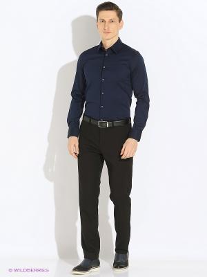 Рубашка Sisley. Цвет: темно-синий, прозрачный