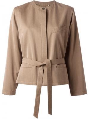 Пиджак с юбкой Louis Feraud Vintage. Цвет: коричневый