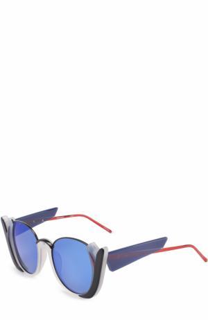 Солнцезащитные очки Prabal Gurung. Цвет: синий