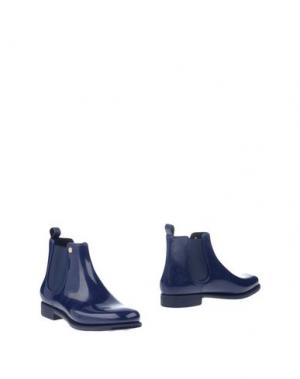 Полусапоги и высокие ботинки MÈNGHI. Цвет: темно-синий