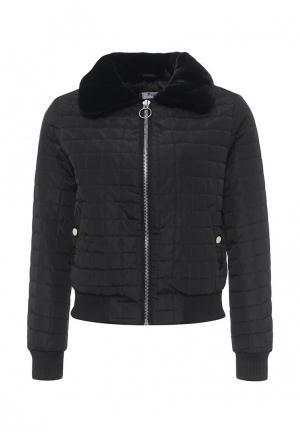 Куртка утепленная Paccio. Цвет: черный