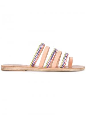 Braided strap sandals Ancient Greek. Цвет: телесный