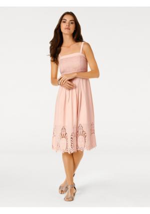 Платье Linea Tesini. Цвет: розовый