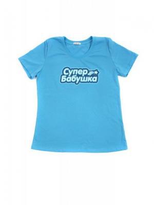 Футболка Ехидна. Цвет: голубой