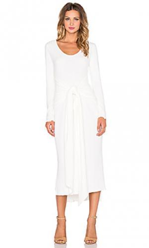 Платье с длинным рукавом parker Otis & Maclain. Цвет: белый