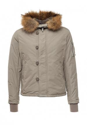 Куртка утепленная Bomboogie. Цвет: бежевый