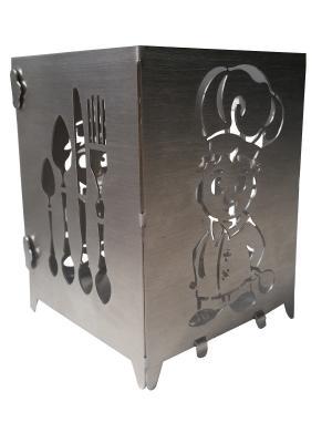 Контейнер для столовых приборов Gala.. Цвет: серебристый