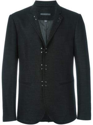 Классический пиджак John Varvatos. Цвет: серый