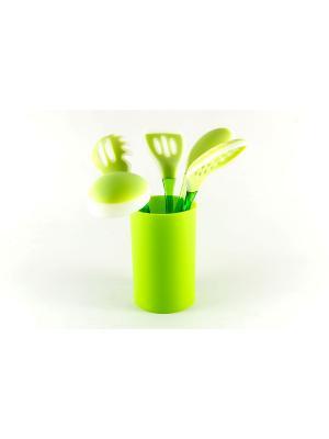 Набор кухонных инструментов GESSER 5пр GIPFEL. Цвет: зеленый