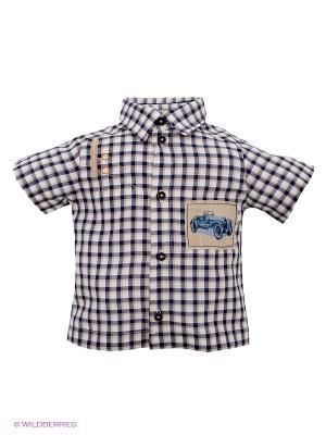 Рубашка CHOUPETTE. Цвет: синий, бежевый, белый