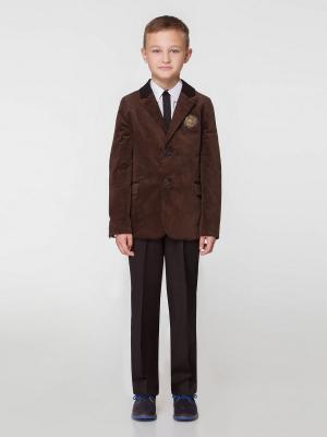 Пиджак PandaKids. Цвет: коричневый