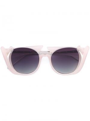 Солнцезащитные очки Prabal Gurung. Цвет: розовый и фиолетовый