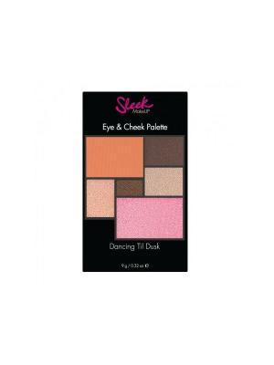 Набор теней и румян Eye&Cheek Dancing til dusk 27 Sleek MakeUp. Цвет: розовый, серый, терракотовый, коричневый, бежевый