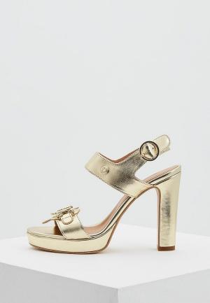Босоножки Love Moschino. Цвет: золотой