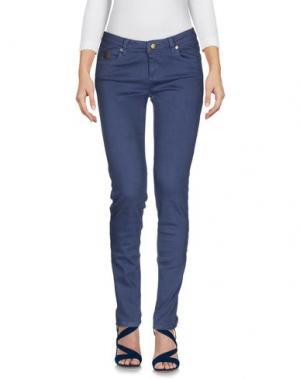 Джинсовые брюки DUCK FARM. Цвет: грифельно-синий