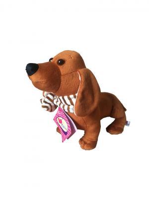 Мягкая игрушка Такса Malvina. Цвет: коричневый