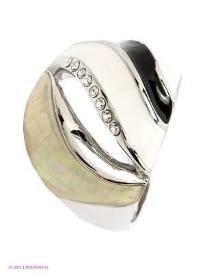 Кольцо Krikos. Цвет: серебристый, белый, черный