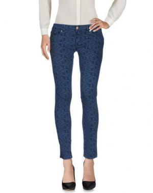 Повседневные брюки NO LAB. Цвет: грифельно-синий