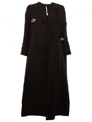 Пальто  Warden Toogood. Цвет: чёрный