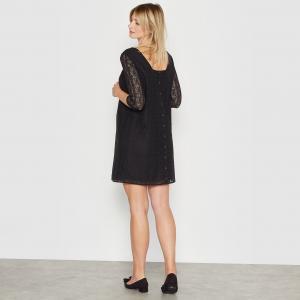 Платье из кружева для периода беременности R essentiel. Цвет: слоновая кость,черный