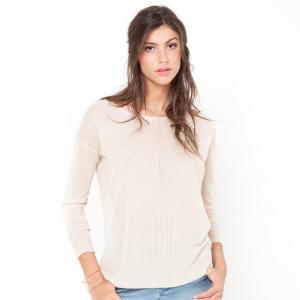 Пуловер из тонкого трикотажа COLOR BLOCK. Цвет: зеленый