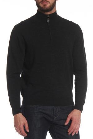 Полуприлегающий пуловер на молнии PREMISE. Цвет: темно-серый