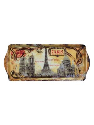 Поднос 33,8 х 16,9 см,  Памятники Парижа Orval. Цвет: серый, красный, желтый