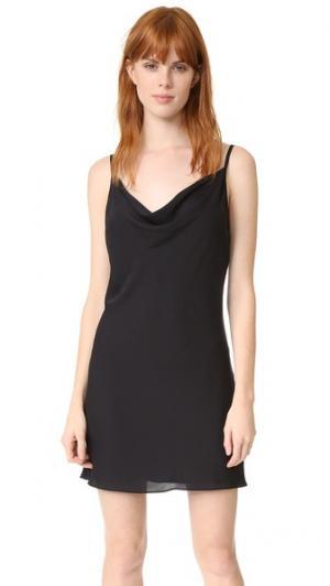 Платье-комбинация Bowie Amanda Uprichard. Цвет: винный