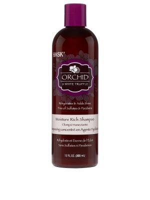 Шампунь для ультра-увлажнения волос с экстрактом орхидеи и маслом белого трюфеля HASK. Цвет: белый
