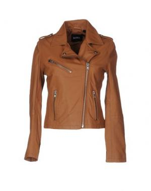 Куртка DOMA. Цвет: коричневый