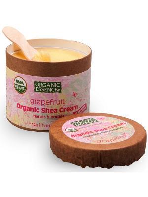 Органический крем Ши, Грейпфрут 114 гр Organic Essence. Цвет: кремовый