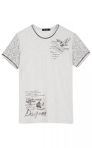 Серая футболка с принтом Jorg weber