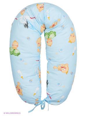 Подушка для беременных и кормления 40 недель. Цвет: голубой, белый