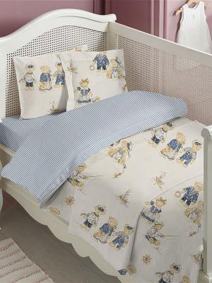 Комплект постельного белья ДЕТСКИЙ Dream time. Цвет: голубой, бежевый