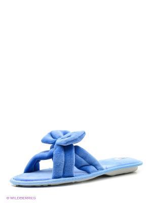 Тапочки renne. Цвет: синий