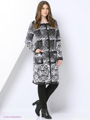 Пальто Milana Style. Цвет: серый