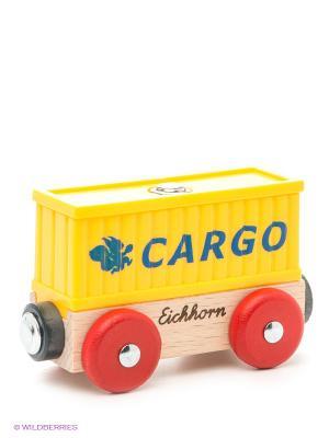 Вагон-контейнер Eichhorn. Цвет: бежевый, красный, желтый