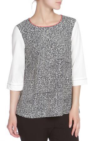Блузка Liviana Conti. Цвет: черно-белый