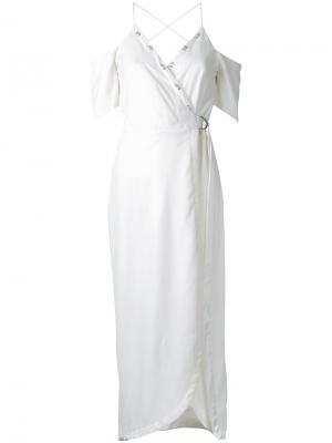 Платье Divine Excess с запахом Manning Cartell. Цвет: белый