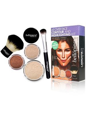 Bellapierre cosmetics FCH001 Набор для моделирования лица Fair. Цвет: бежевый