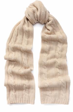 Шарф фактурной вязки из кашемира Kashja` Cashmere. Цвет: светло-бежевый