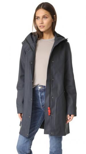 Прорезиненное пальто Original Hunting Hunter Boots. Цвет: темно-синий