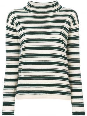 Striped roll neck jumper Bellerose. Цвет: телесный