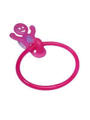 Крючок-кольцо для полотенец на присоске Migura. Цвет: фуксия