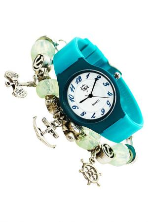 Набор: часы, браслет Taya. Цвет: зеленый