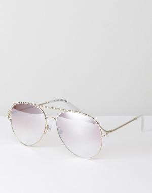 Marc Jacobs Серебристые солнцезащитные очки-авиаторы 168/S. Цвет: серебряный
