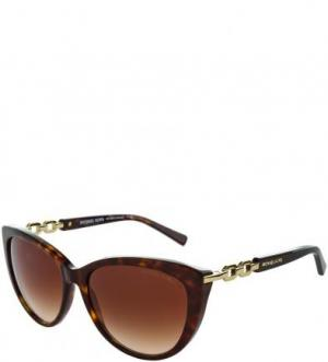 Солнцезащитные очки с градиентными линзами Michael Kors. Цвет: коричневый