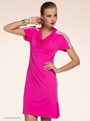 Платье Anna Rachele Jeans. Цвет: розовый, кремовый