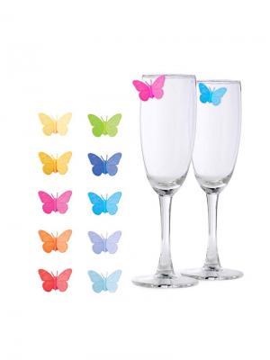 Маркеры для бокалов Drink Wings 10шт. Balvi. Цвет: синий, фиолетовый, желтый