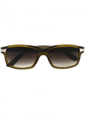 Солнцезащитные очки Santos de Cartier. Цвет: зелёный